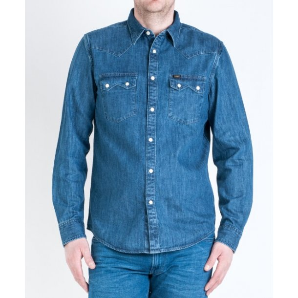 Lee Rider Shirt Dipped Blue
