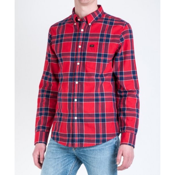 Lee Button Down Bright Red
