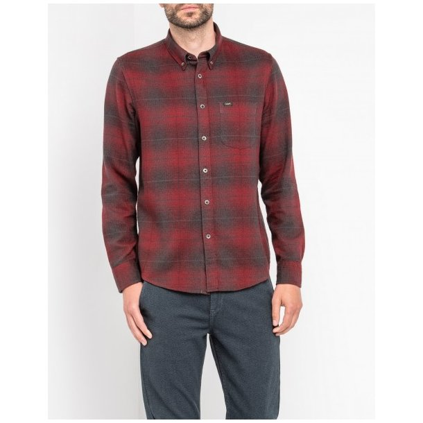 Lee Button Down Rhubarb Red