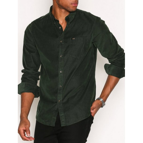 Lee Button Down Forest Green